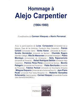 Couverture Hommage à Alejo Carpentier