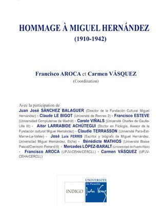 Couverture Hommage à Miguel Hernández