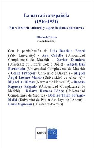 Couverture La narrativa española (1916-1931)