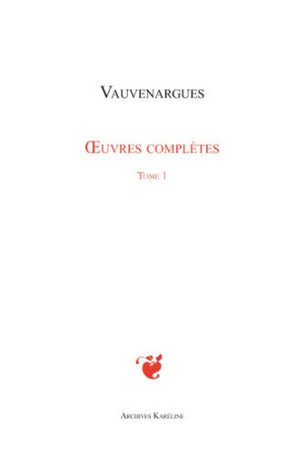Couverture Oeuvres complètes (Tome 1)