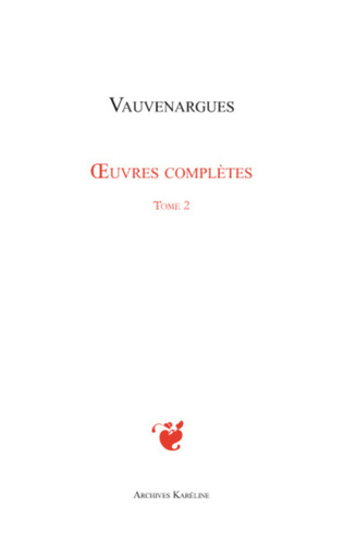 Couverture Oeuvres complètes (Tome 2)