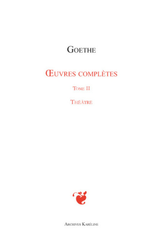 Couverture Oeuvres complètes Tome II