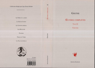 Couverture OEuvres complètes Tome III