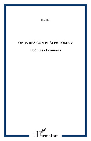 Couverture OEuvres complètes Tome V