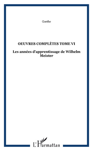 Couverture OEuvres complètes Tome VI