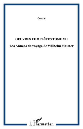 Couverture OEuvres complètes Tome VII