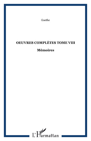 Couverture OEuvres complètes Tome VIII