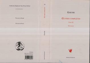 Couverture OEuvres complètes Tome IX