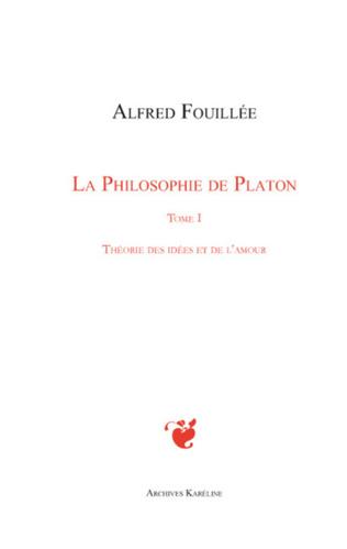 Couverture PHILOSOPHIE DE PLATON (TOME I)