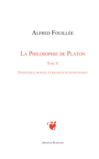 Couverture PHILOSOPHIE DE PLATON (TOME II)