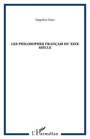 Couverture Les philosophes français du XIXe siècle