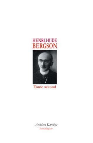 Couverture BERGSON (Tome II)