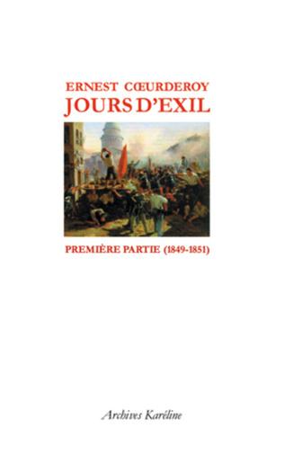 Couverture Jours d'Exil. Première partie (1849-1851)