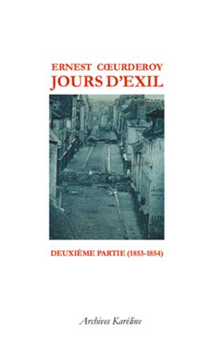 Couverture Jours d'Exil. Deuxième partie (1853-1854)