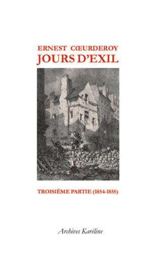 Couverture Jours d'Exil. Troisième partie (1854-1855)
