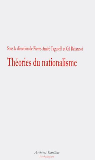 Couverture Théories du nationalisme