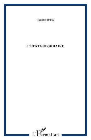 Couverture L'Etat subsidiaire