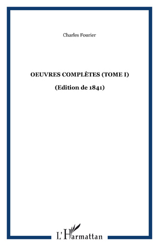 Couverture Oeuvres complètes (Tome I)