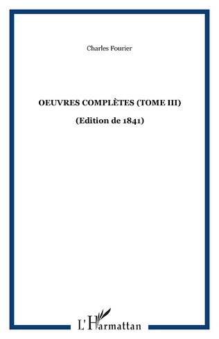 Couverture Oeuvres complètes (Tome III)