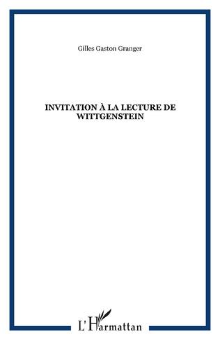 Couverture Invitation à la lecture de Wittgenstein