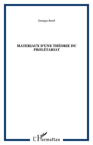 Couverture Materiaux d'une théorie du prolétariat