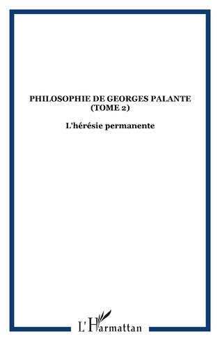 Couverture Philosophie de Georges Palante (Tome 2)