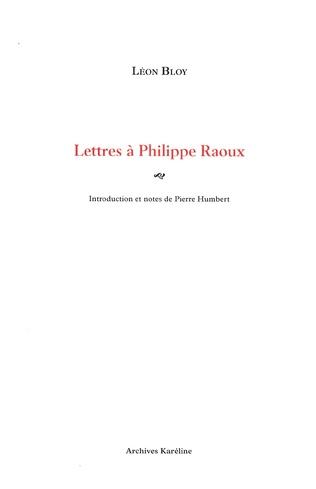 Couverture Lettres à Philippe Raoux