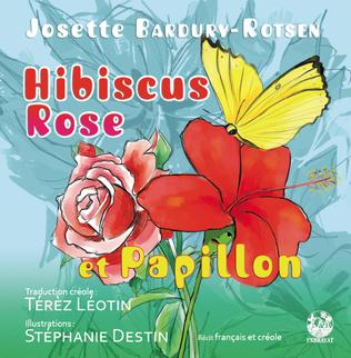 Couverture Hibiscus Rose et Papillon