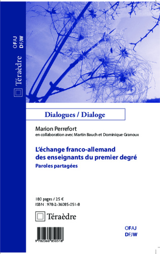 Couverture L'échange franco-allemand des enseignants du premier degré
