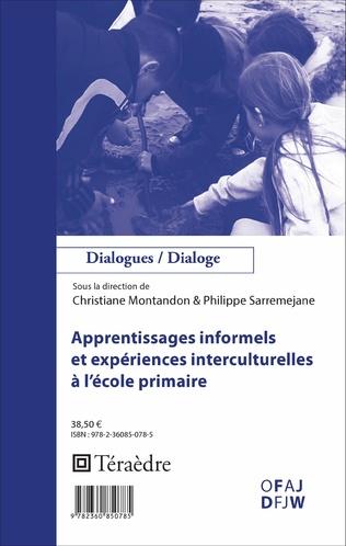 Couverture Apprentissages informels et expériences interculturelles à l'école primaire