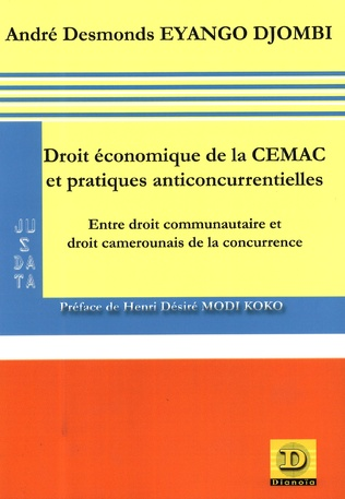 Couverture Droit économique de la CEMAC et pratiques anticoncurrentielles