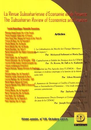Couverture La Revue subsaharienne d'Economie et de finance