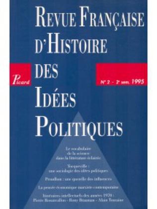 Couverture Revue française d'histoire des idées politiques - 2
