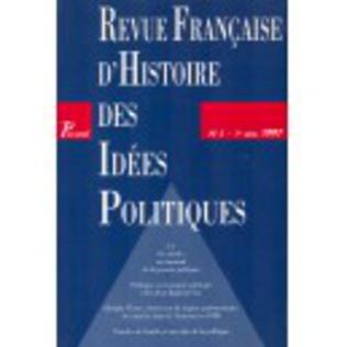 Couverture Revue française d'histoire des idées politiques - 5