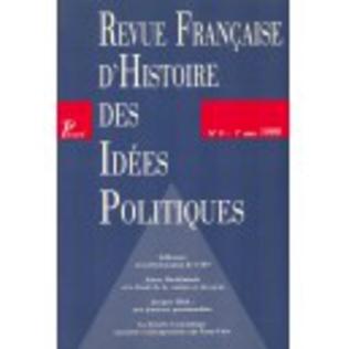Couverture Revue française d'histoire des idées politiques - 9