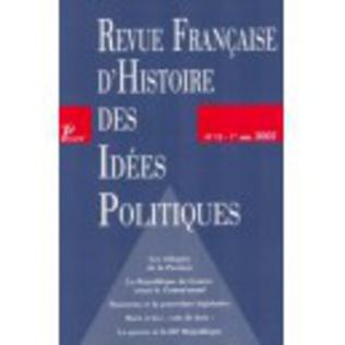 Couverture Revue française d'histoire des idées politiques - 15