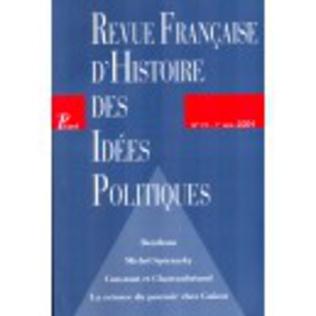 Couverture Revue française d'histoire des idées politiques - 19