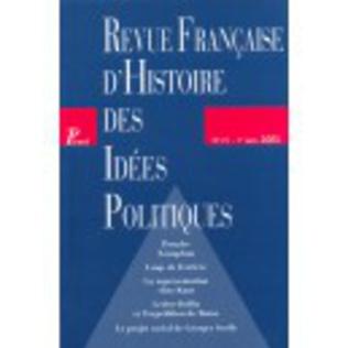 Couverture Revue française d'histoire des idées politiques - 21