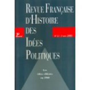 Couverture Revue française d'histoire des idées politiques - 22
