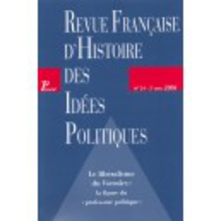 Couverture Revue française d'histoire des idées politiques - 24