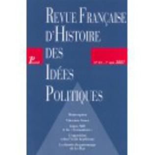 Couverture Revue française d'histoire des idées politiques - 25