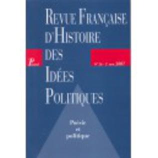 Couverture Revue française d'histoire des idées politiques - 26
