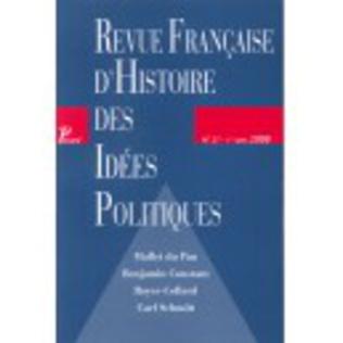 Couverture Revue française d'histoire des idées politiques - 27