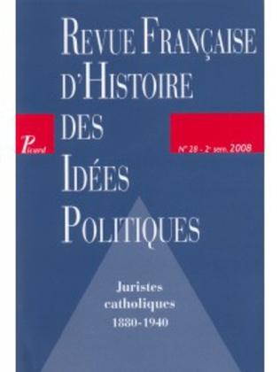 Couverture Revue française d'histoire des idées politiques - 28
