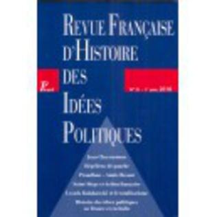 Couverture Revue française d'histoire des idées politiques - 31