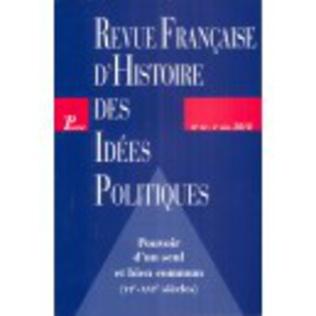 Couverture Revue française d'histoire des idées politiques - 32