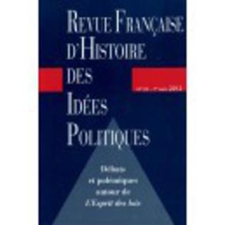 Couverture Revue française d'histoire des idées politiques - 35