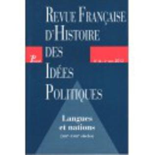 Couverture Revue française d'histoire des idées politiques - 36