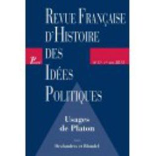 Couverture Revue française d'histoire des idées politiques - 37