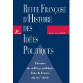 Couverture Revue française d'histoire des idées politiques - 38